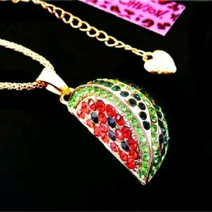 Watermelon Betsey Johnson long necklace